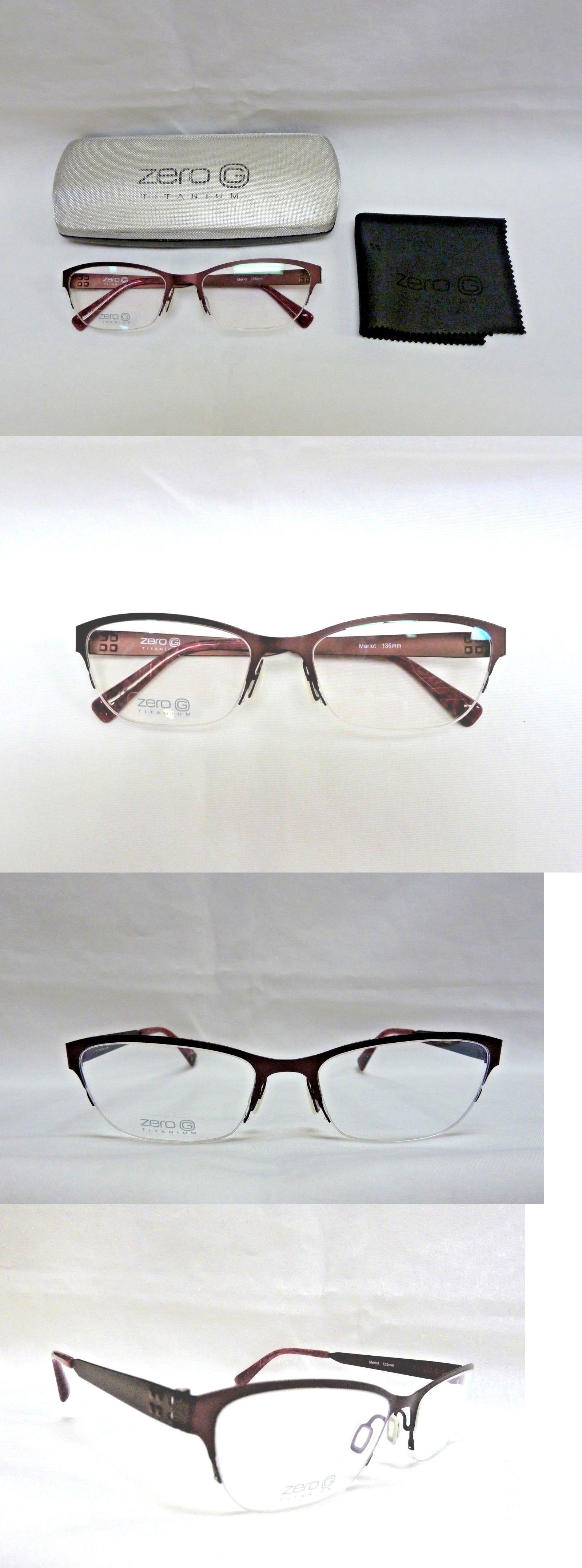 ZERO G eyeglasses Crown Heights Merlot Titanium NEW Japan 55-17-135 ...