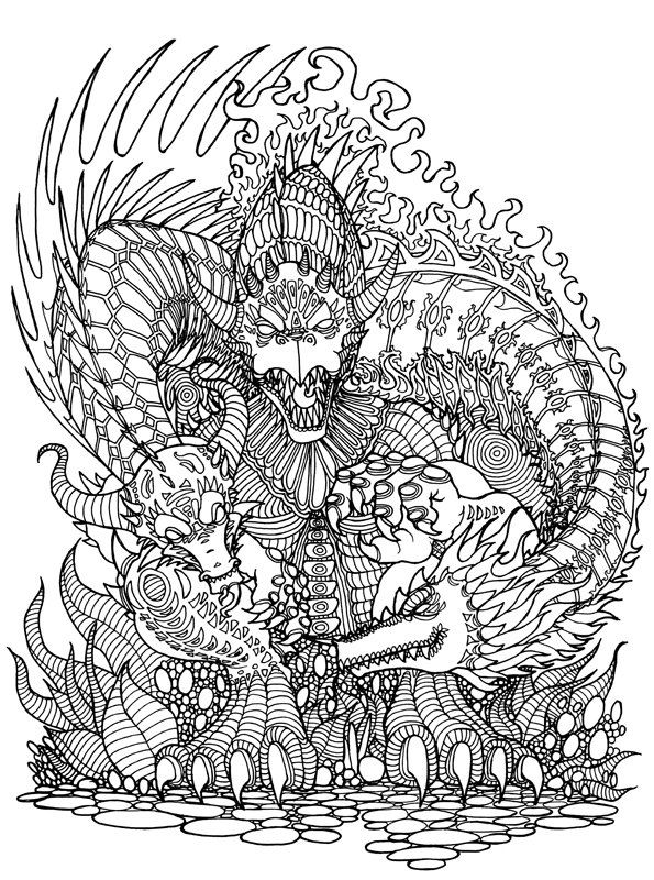 3 Adult Coloring Book Pages - Tyler Warren\'s Pre-Release Coloring ...