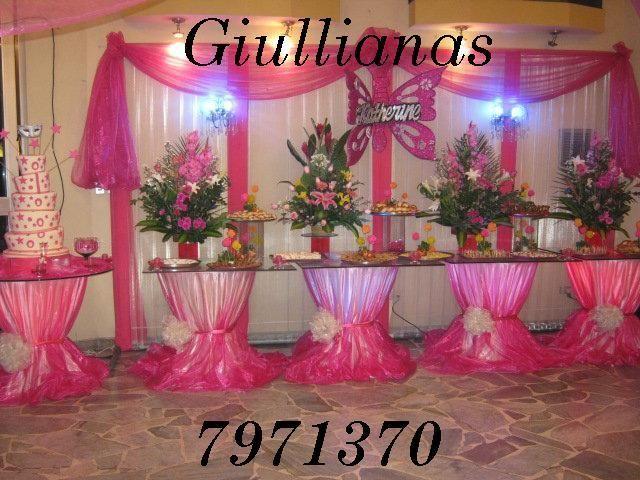 Arreglo floral para quinceanera arreglo floral mesa de - Mesas para buffet ...