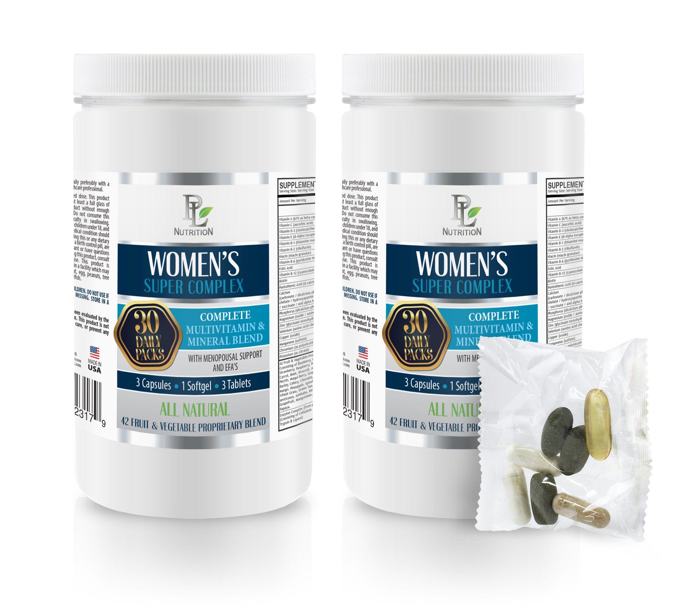 Fertitliy Diets Energy Boosting Supplements Womens Super Complex Daily Pack Paba Supplement Fertili Vitamins For Hair Growth Fertility Pills Fertility Tea