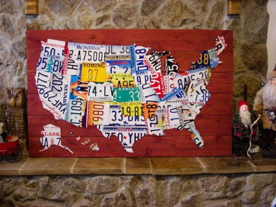A United States License Plate Map A Unique And Interesting Art - Us map made out of license plates
