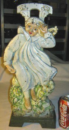 Antique Cjo Judd Cast Iron Girl Toy Doll Art Statue Sculpture Home Door  Doorstop
