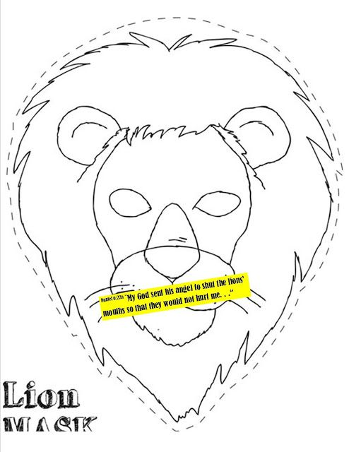 Sunday School Craft Daniel And The Lion S Den Mask Daniel And