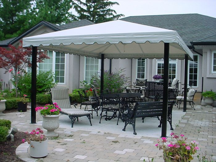 Patio Pictures | Stationary Patio Awnings