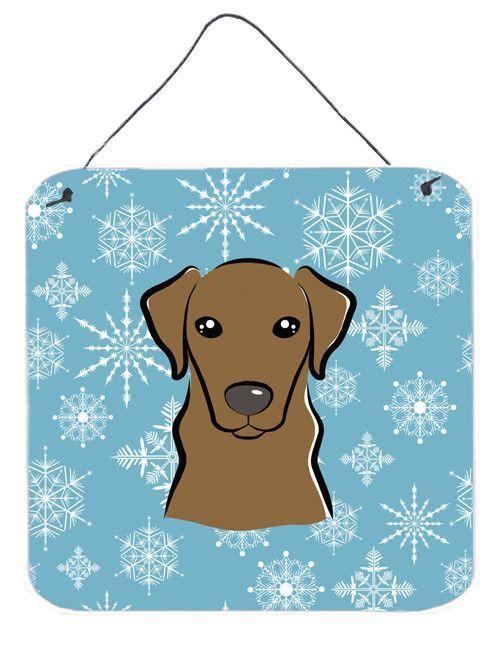 Snowflake Chocolate Labrador Painting Print