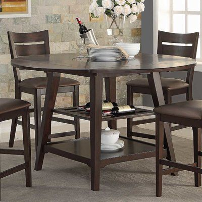 World Menagerie Devereau 60 Round Extendable Dining Table Round
