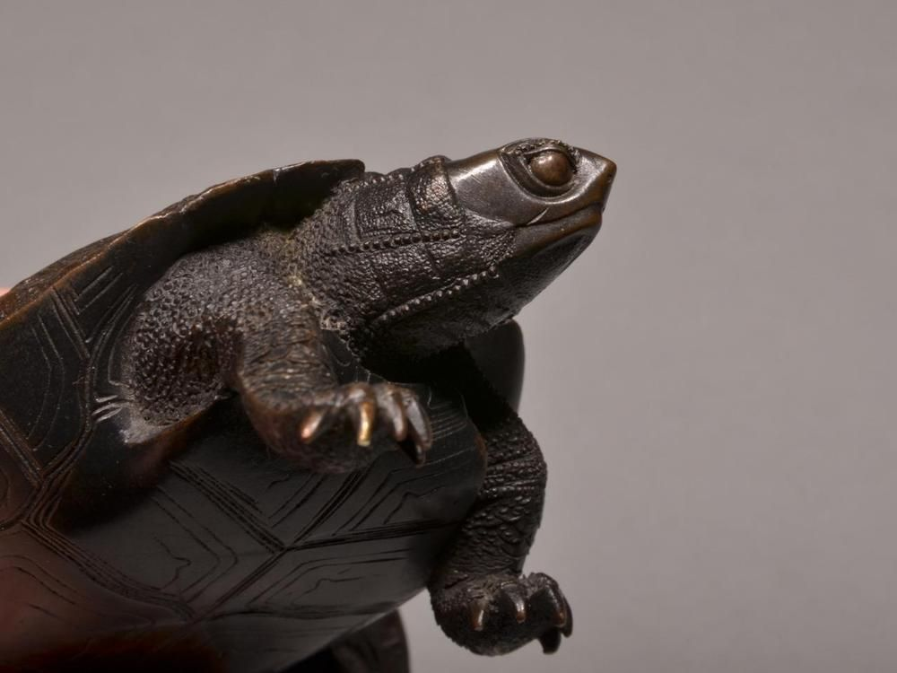 Beautiful bronze okimono – Tortoises; Japan, Meiji period, marked. in Antiques, Asian/ Oriental Antiques, Japanese | eBay