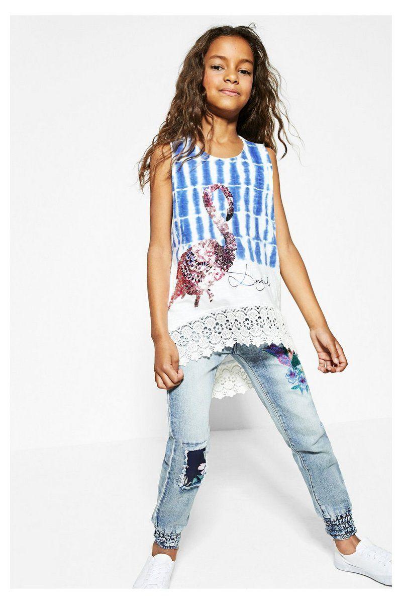 5ccffcf07 Camiseta Desigual blanca y azul - Tennessee  circulogpr  desigual  fashion   modainfantil