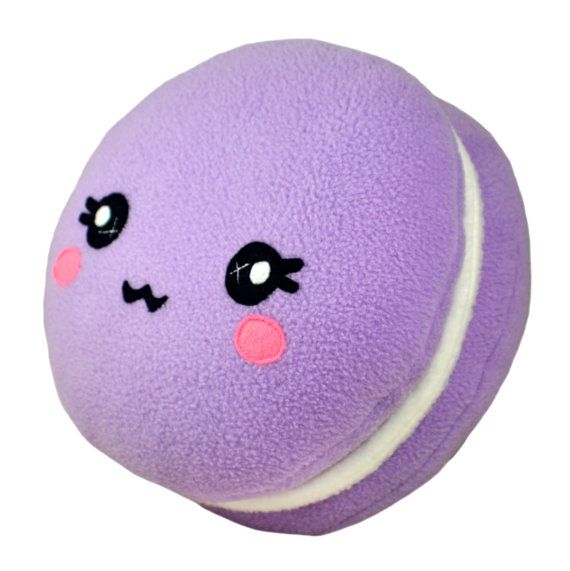 ♥ ITEM DESCRIPTION ♥  This listing is for 1 Macaron plushee / pillow , the one in the pictures! Measurements : Diameter (face ) - 9 inch (23 cm) Height