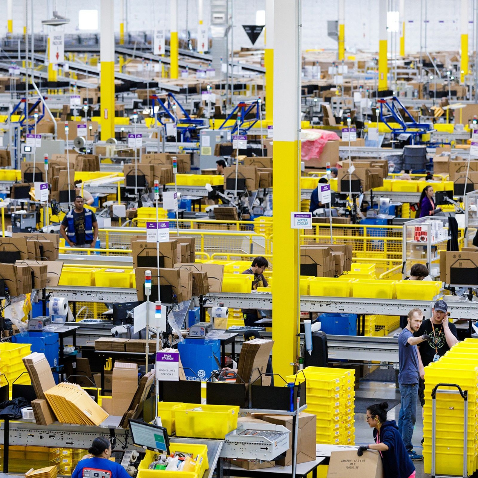 Inside Amazon S Fulfillment Centers What You Can Expect To See On A Warehouse Tour Come Witness The Magi Amazon Fulfillment Center Amazon Jobs Warehouse Jobs