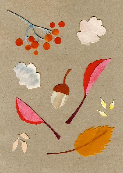 Fall illustration by Maja K Zetterberg from http://www.majazetterberg.com