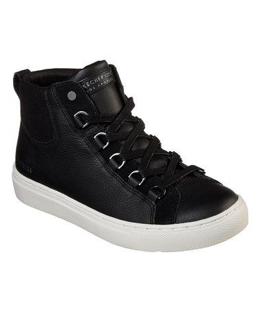 55b7530f8cfce9 Black Side Street Core-Set Leather Hi-Top Sneaker - Women  zulily   zulilyfinds