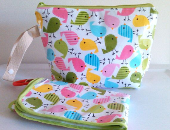 Changing Mat and Diaper Clutch on the Go by LilTotWonder on Etsy, $38.00