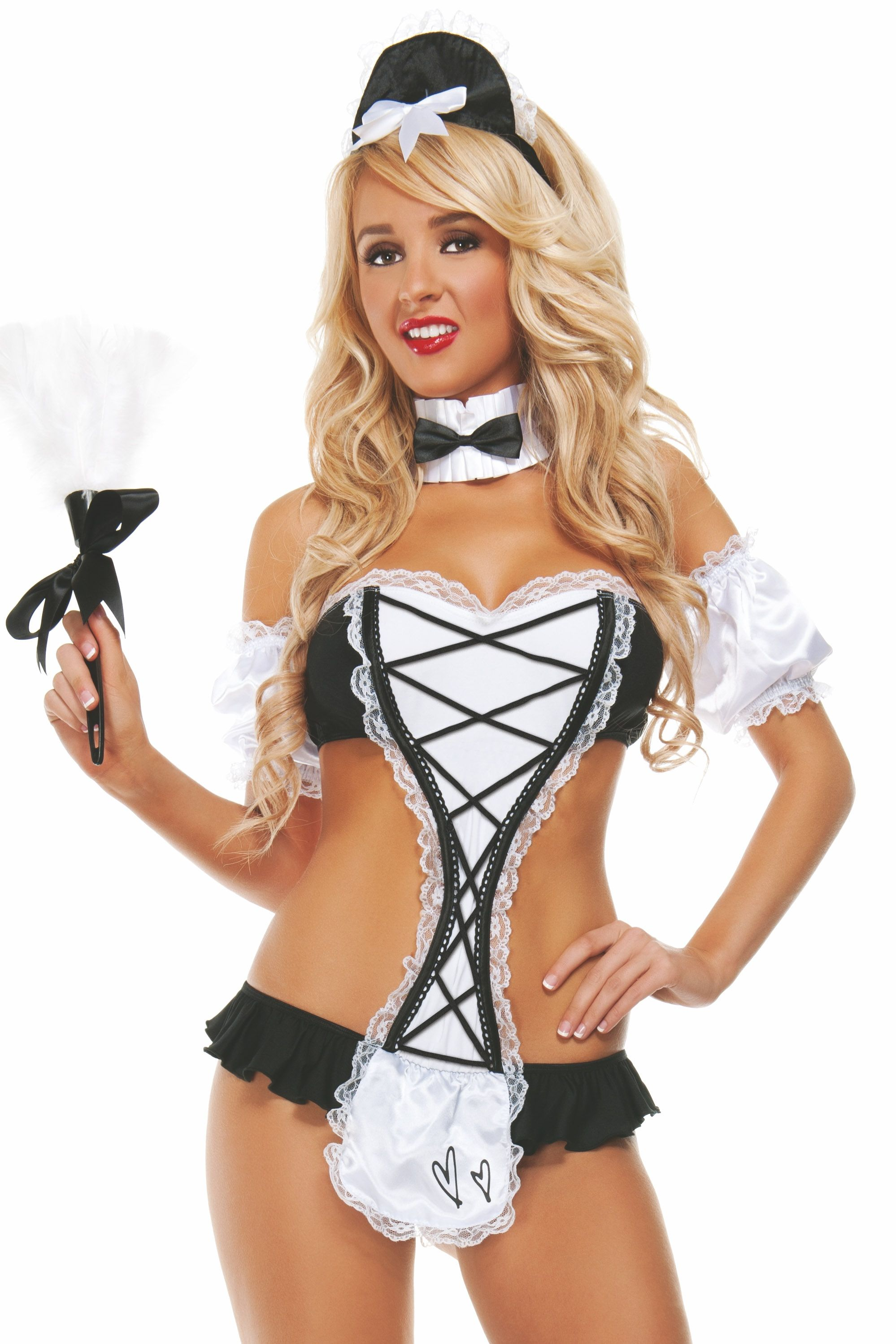 Role Play Ideas For The Bedroom Mischief Maid Costume Women S Halloween Costumes At Ld