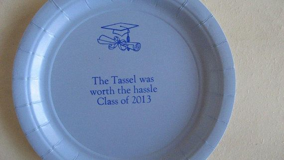 50 personalized cake plates graduation The hassel was worth the tassle JKimprints $22.00  & 50 personalized cake plates graduation The hassel was worth the ...