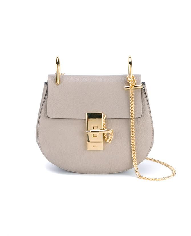 71cdad49e84 CHLOÉ Mini Grained Leather Drew Bag.  chloé  bags  shoulder bags  lining   travel bags  weekend  suede