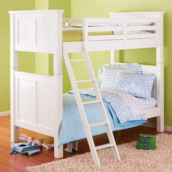 The Land Of Nod Kids Bunk Beds Kids Twin White Beadboard Bunk