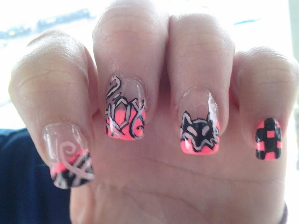 Fox Racing Nails   Beauty   Pinterest   Fox racing nails, Racing ...