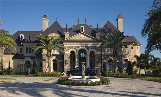 Castle Home Designs. Mansions  Luxury Homes This is it Modern French architecture circle courtyard
