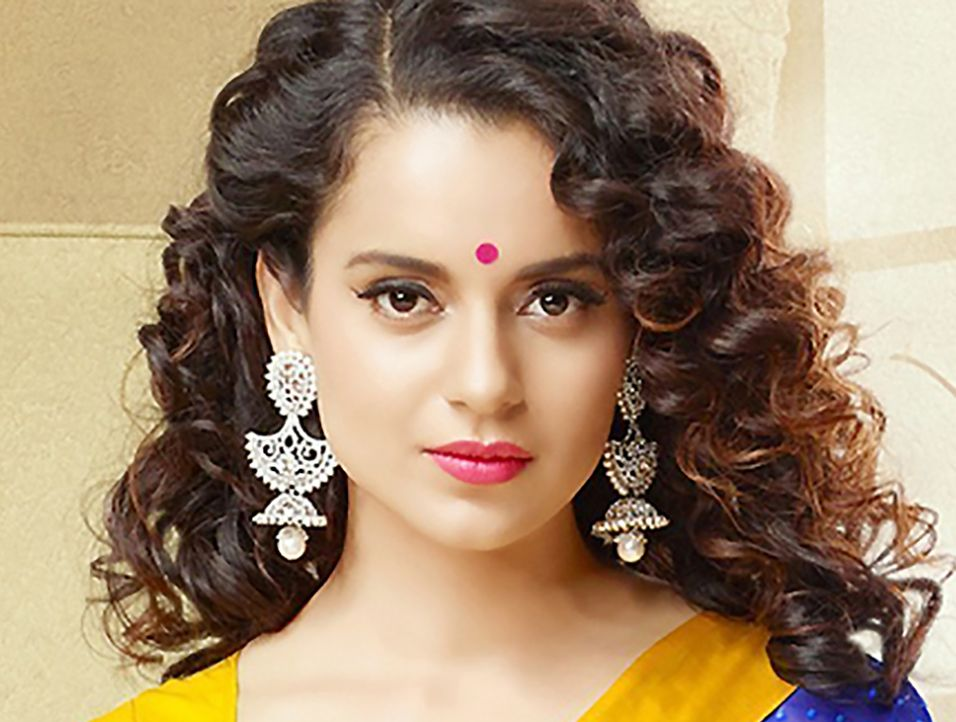 Indian Celebrity Kangana Ranaut Curly Hairstyles Curly