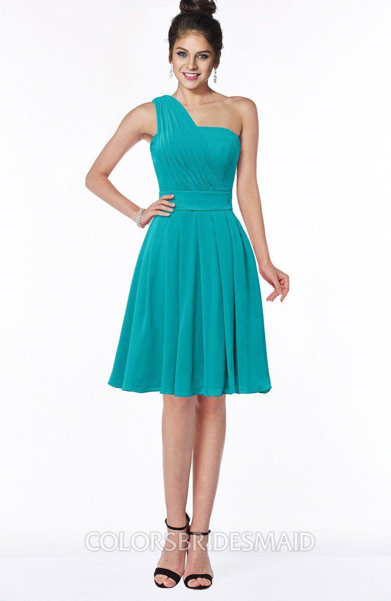 5fc6405e5fac5 Mango Bridesmaid Dress - Simple Sleeveless Zip up Knee Length Short Ribbon.  Shop ColsBM Sophia in Chiffon, 170 Colors, All Sizes & Free Custom.