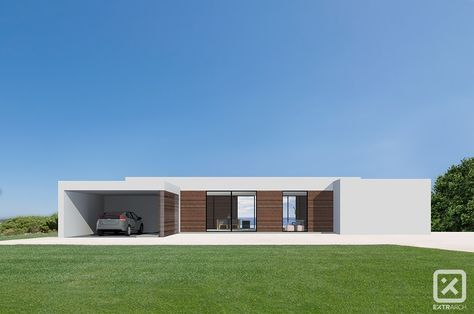 Intonaco Esterno Moderno : Extrarch render esterno villa moderna contemporanea intonaco