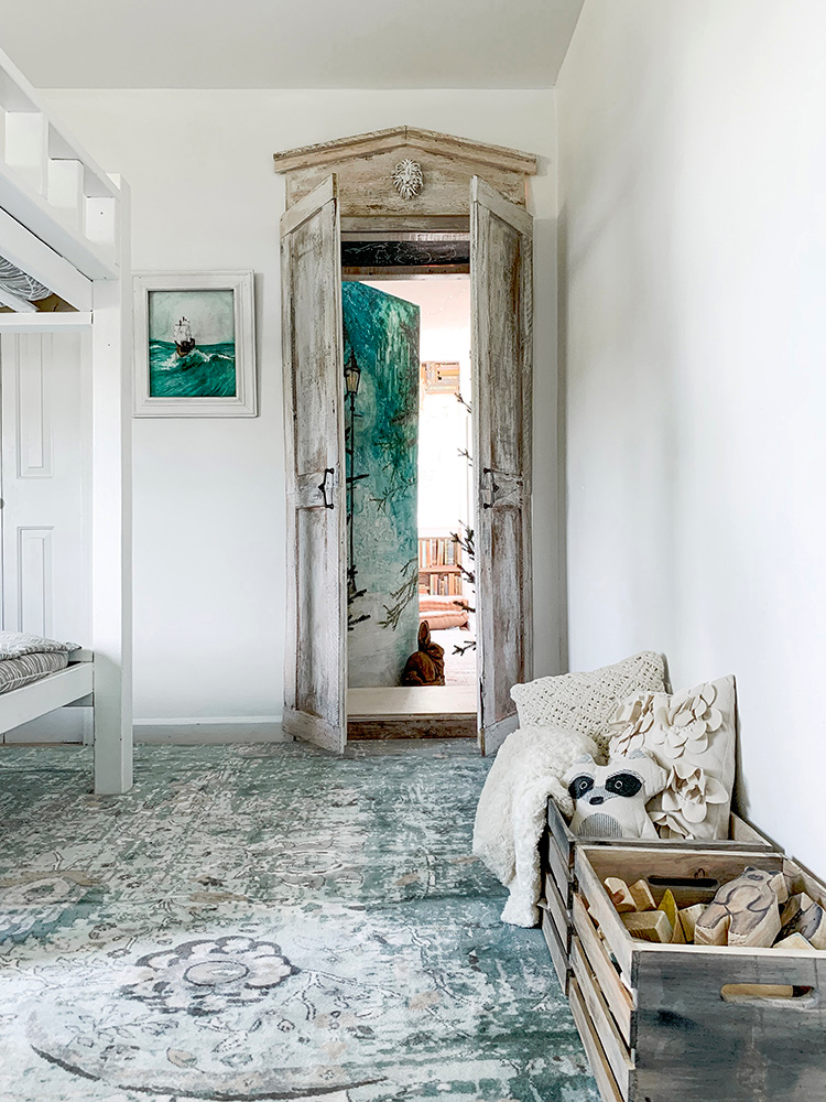 Photo of Narnia Wardrobe Secret Reading Nook Playroom- How An Artist Transformed A Dormer Window Hallway Into The C.S. Lewis Inspired Fairytale Playroom Of Her Children's Dreams   We Lived Happily Ever After