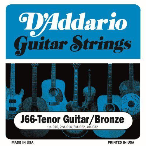 D Addario J66 Custom Tenor Guitar Strings By D Addario 3 79 From The Manufacturer D Addario Tenor Guitar S Tenor Guitar Guitar Strings Guitar