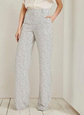 comprar online b7211 8578a Pantalón fluido de lunares - Pantalones   Adolfo Dominguez ...
