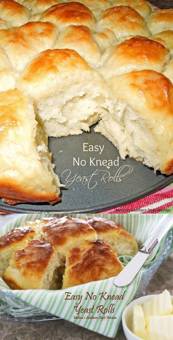 Easy No Knead Yeast Rolls | Recipe | Yeast rolls recipe