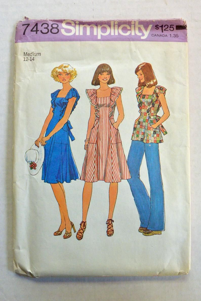 70s Vintage Dress Pattern Ruffled Bohemian Top Or Sun Dress Etsy In 2020 Simplicity Sewing Patterns Vintage Sewing Patterns Sewing Patterns