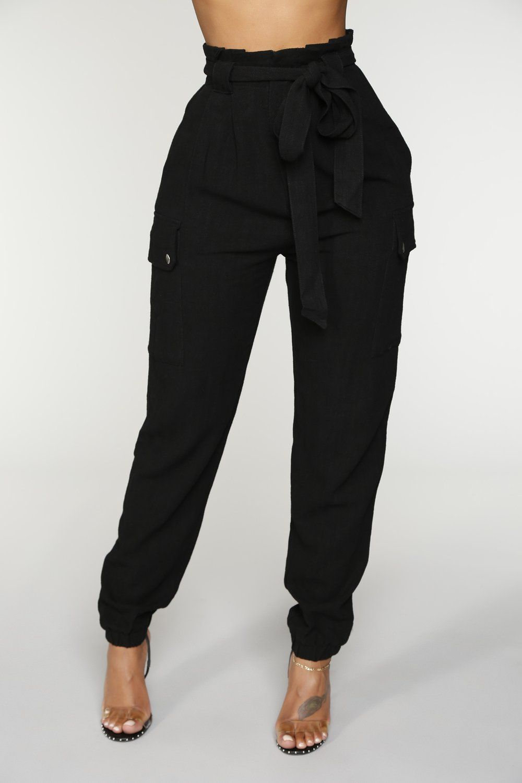 Simone Joggers Black Pants Casual Work Pants Womens Dress Pants [ 1500 x 1000 Pixel ]