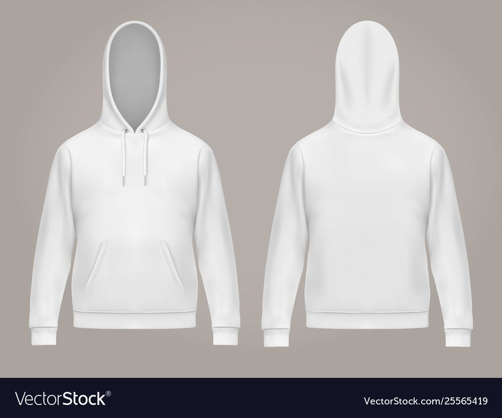 Download Man Hoodie Or Front And Back White Men Hoody Vector Image Ad Front White Man Hoodie Ad Hoodie Vector Hoodies Hoodie Template
