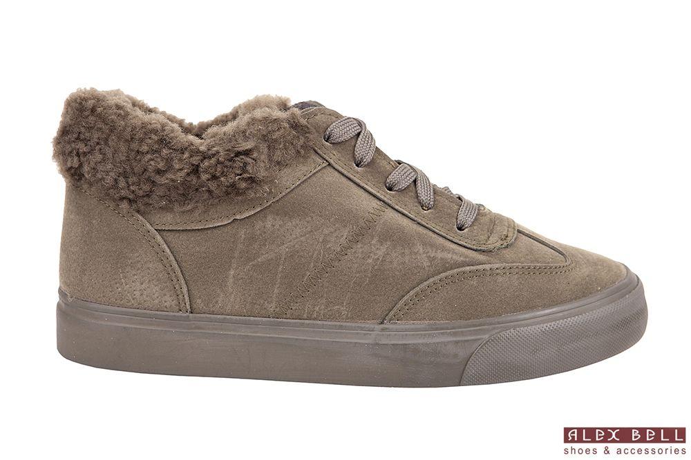 30f04d6a7e4192 зелёные утеплённые кроссовки зима 2018   Обувь Alex Bell   Sneakers ...