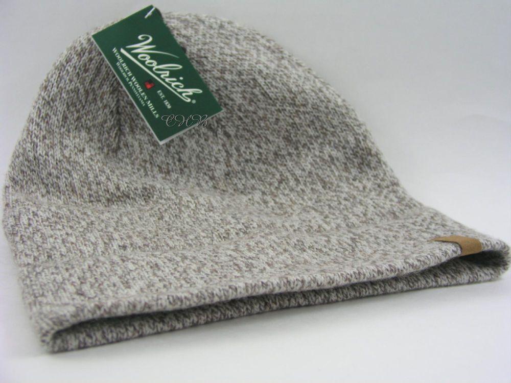 10553b092 Woolrich Beanie Hat Oatmeal Rag Wool Watch Cap w/ Microfleece Lining ...