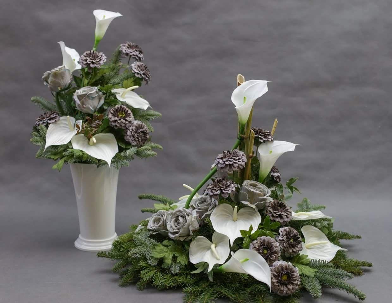 Wszystkich Swietych Christmas Flower Decorations Flower Arrangements Floral Arrangements