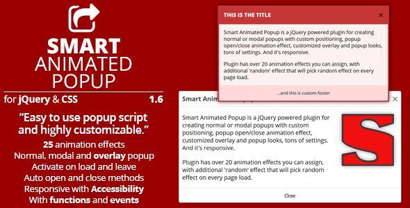 Smart Animated Popup Smart Animated Popup is a jQuery