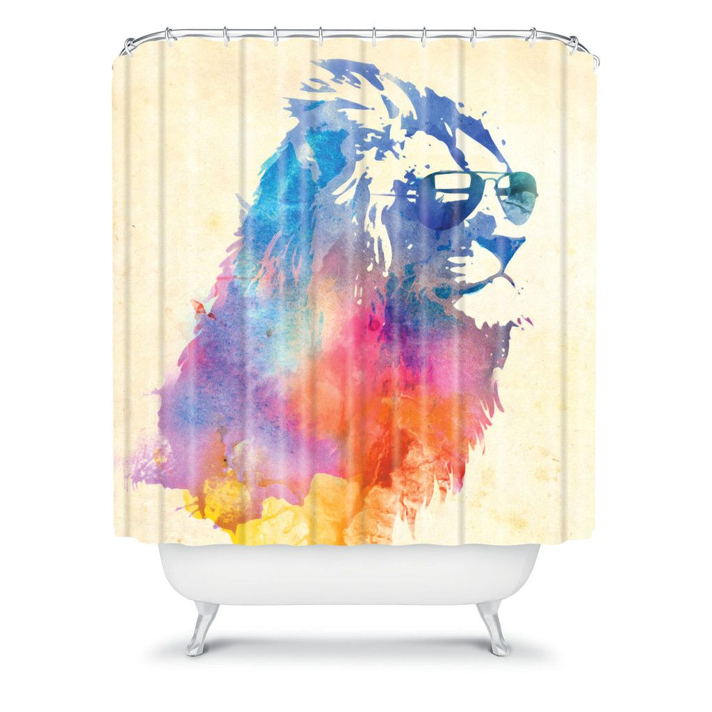 Robert Farkas Sunny Leo Shower Curtain | Funky shower ...