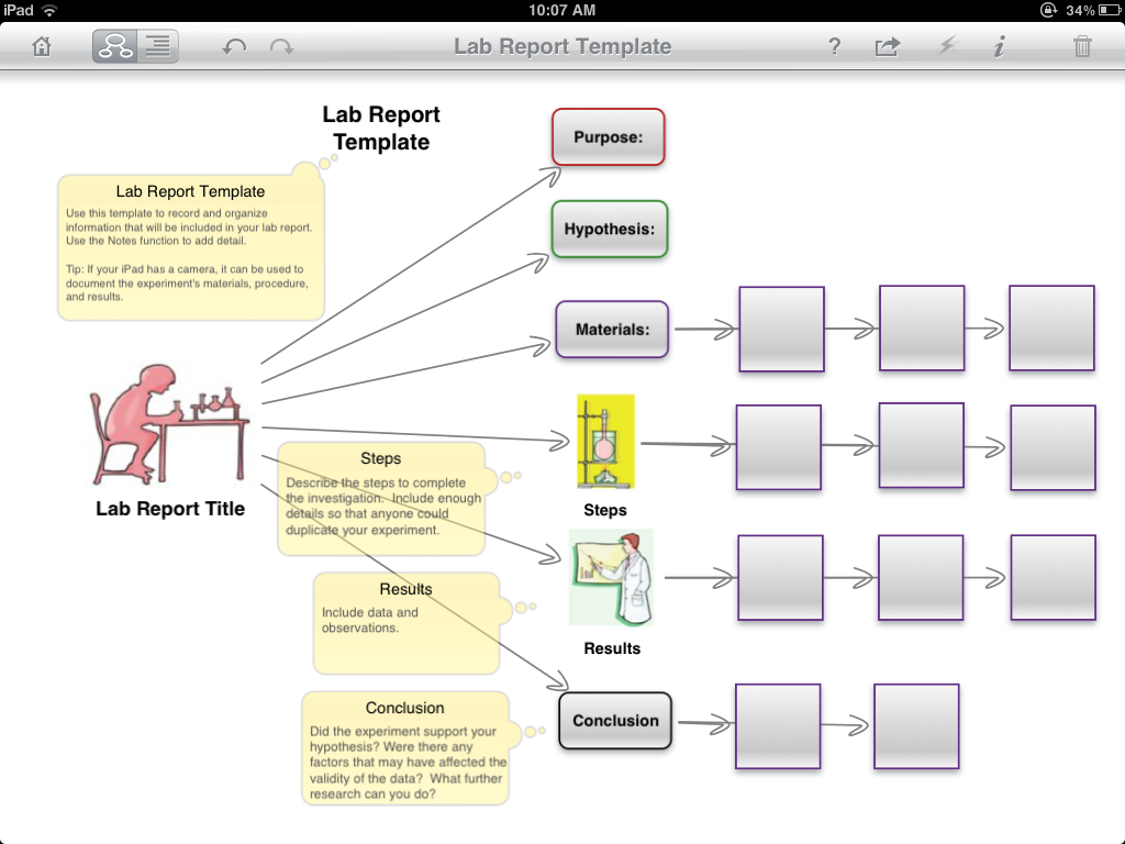 Lab report diagram template use to help students track and draft lab report diagram template use to help students track and draft the steps in a lab report ccuart Choice Image