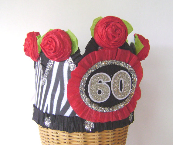 60th Birthday Crown Hat Or Any Number Customize With Name