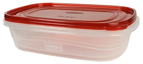 Rubbermaid TakeAlongs Food Storage Container Large Rectangles 1 Gal 2 Pack Red  sc 1 st  Pinterest & Rubbermaid TakeAlongs Food Storage Container Large Rectangles 1 ...