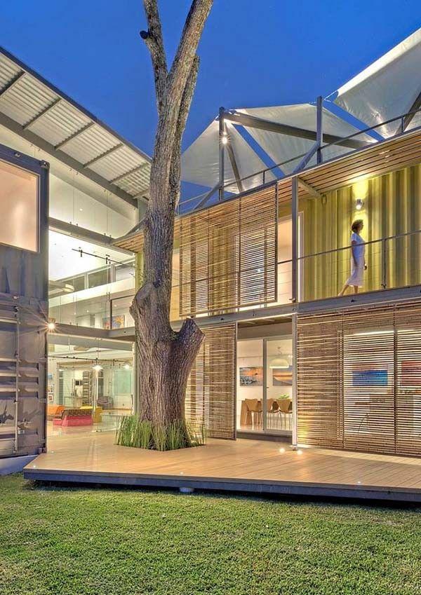 Grundrisse, Container Architektur, Öko Architektur, Erstaunliche  Architektur, Versandbehälter Häuser, Transportbehälter, Maria Jose, Pucci,  Costa Rica