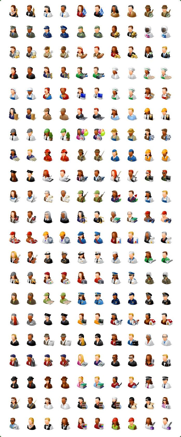 Occupation Icons, Job Icons Pictogrammen, Projecten