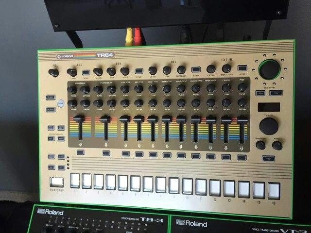 """Roland TR8 Commodore C64 custom face plate """"TR64"""""""