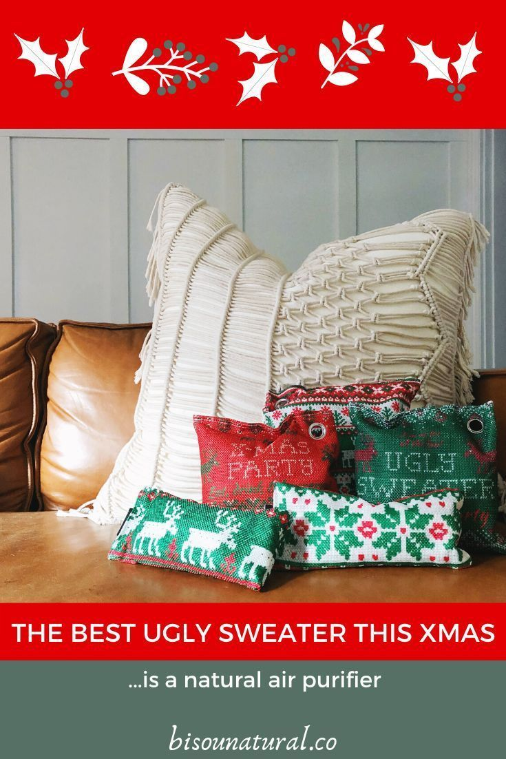 The Best Ugly Sweater this Christmas is a Natural Air Purifier #uglysweaterideas…