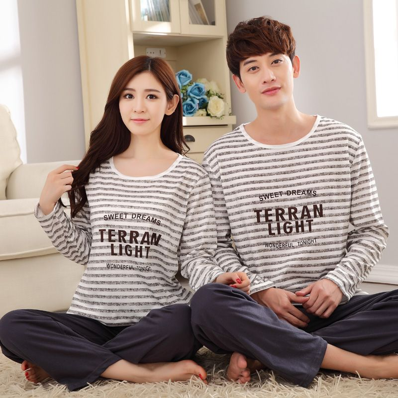 Terren Lounge Set | Women Spring Pyjamas Sets Sleepwear Long Sleeved Couple Pajama Men