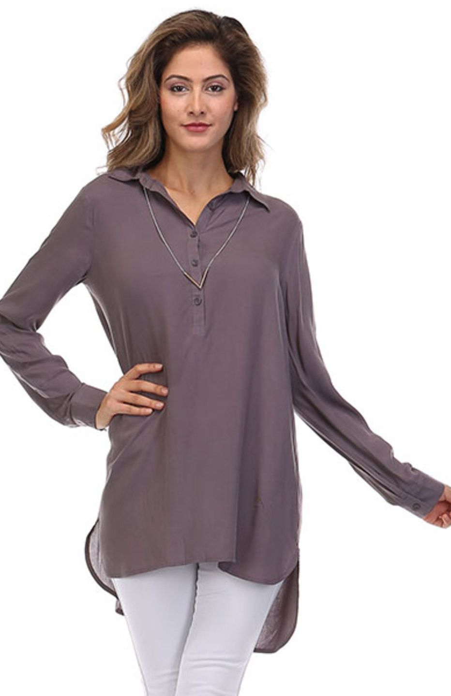 9b77b38732141c Dressy Long Sleeve Hi-Low Tunic Blouse Dress