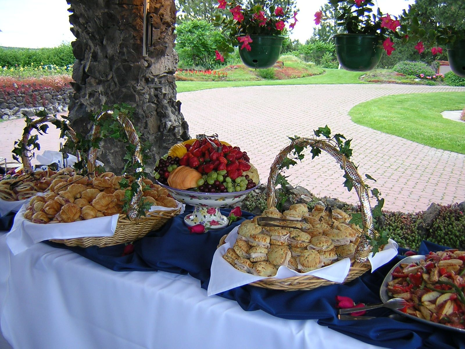 Throw-back Vintage Luncheon Wedding buffet  Cuisine ...