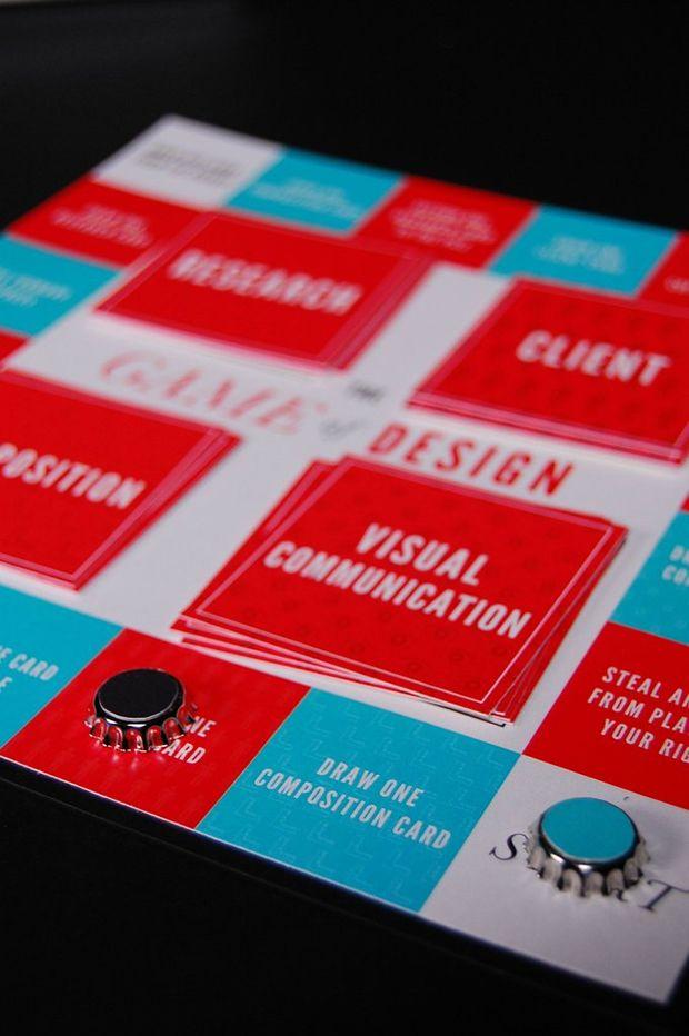 The Game of Design - Board Game CV design Pinterest Package - dice resume