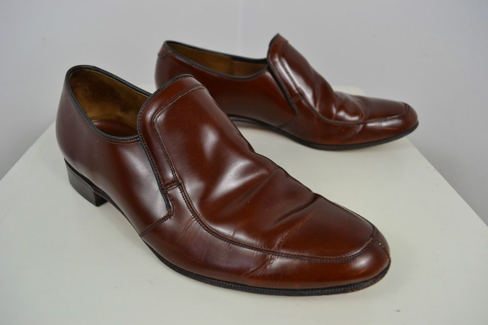 Vintage Barker Brown English Made Leather High Quality Uk Made Shoes